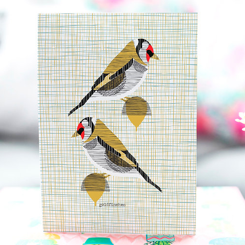 Goldfinches Card by Jenni Douglas
