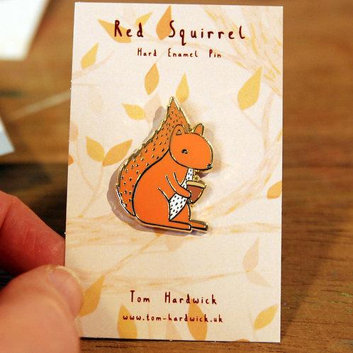 Red Squirrel Enamel Pin