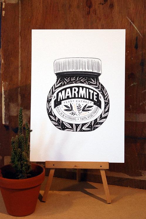 Marmite Black and White Print
