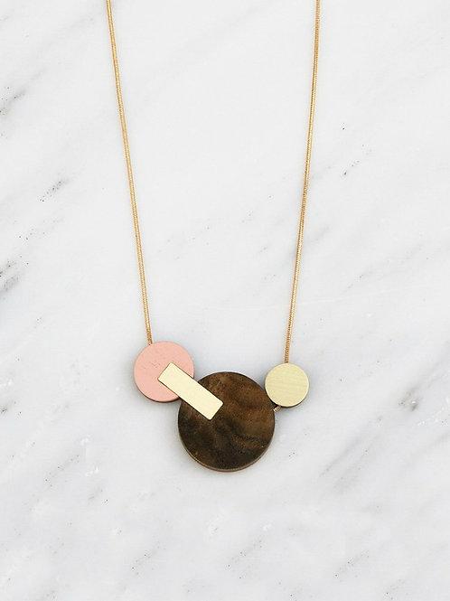 Celeste II Necklace in Walnut