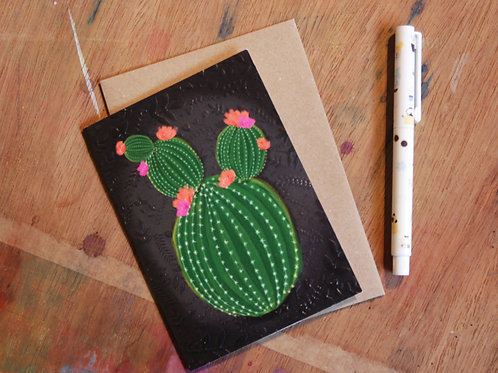 Textured Cactus Card by The Little Posy Print Co