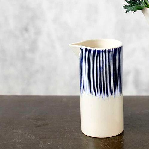 Karuma Ceramic Jug - Blue and White