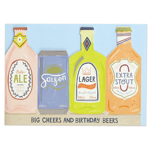 Big Cheers and Birthday beers Card