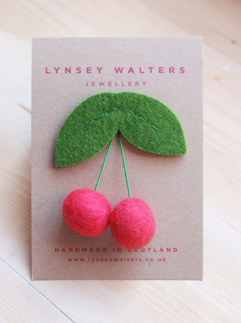 Cherry Brooch by Lynsey Walters