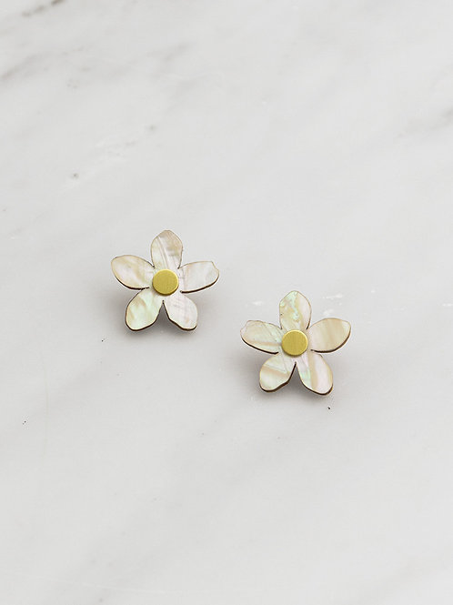 Orange Blossom Studs by Wolf and Moon