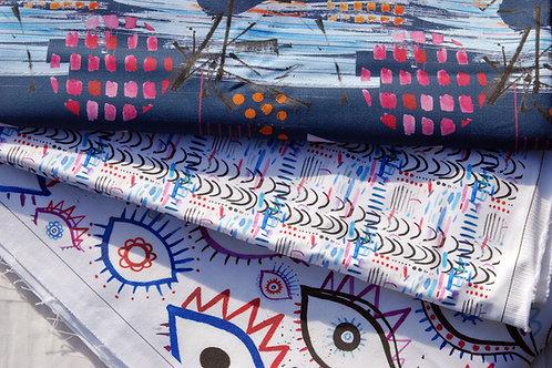 Blues Fabric Stash Surprise Supplies Box