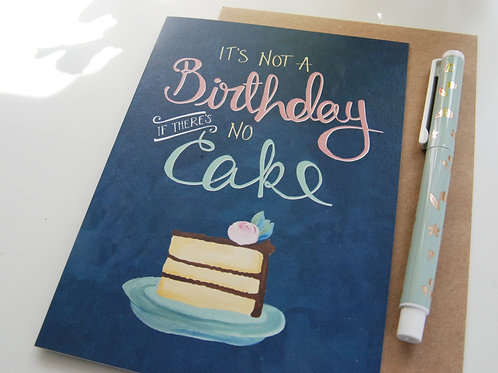 Birthday Cake Card by The Little Posy Print Co