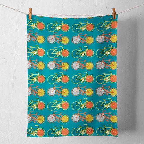 Cycle Tea Towel