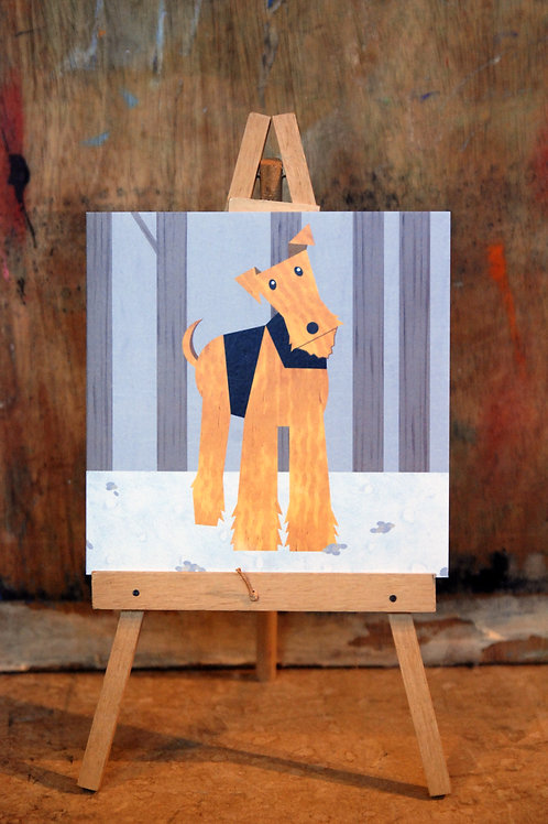 Airedale Terrier Greetings Card