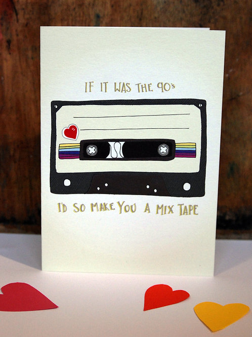 Retro Mix Tape Valentine's Card