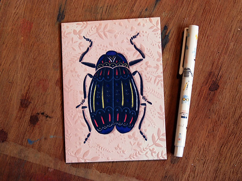 Beetle Card by The Little Posy Print Co