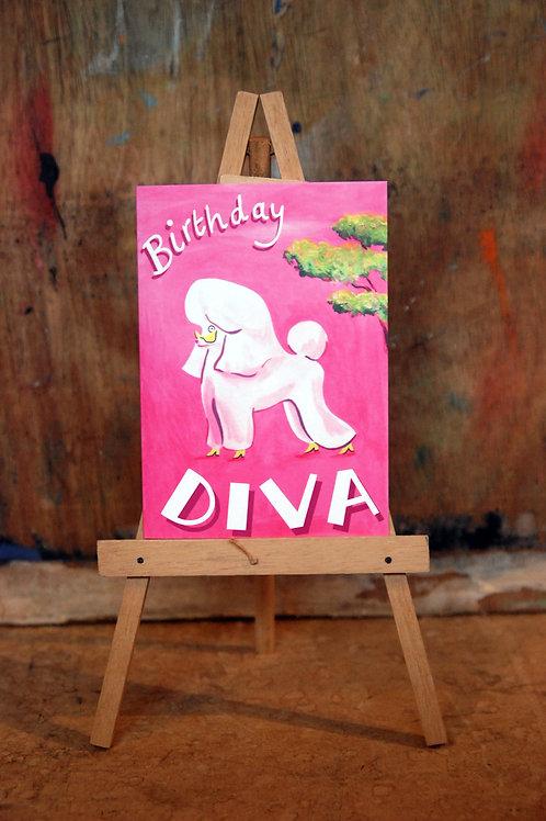 Diva Birthday Card