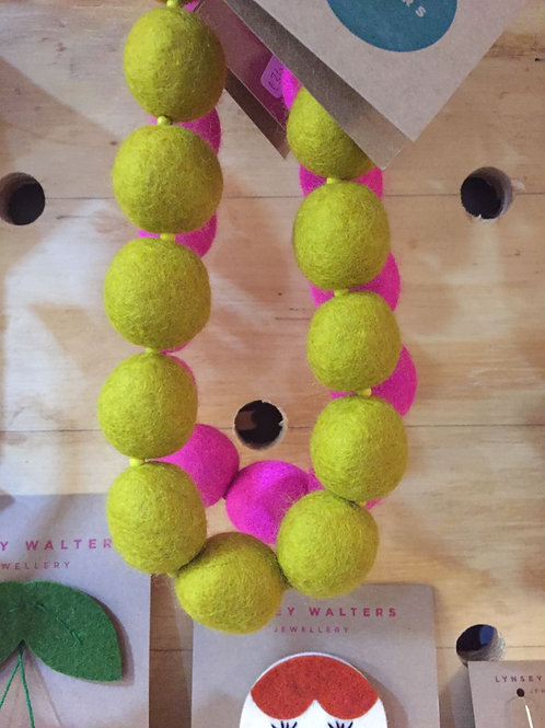 Merino Bead Necklace by L. Walters
