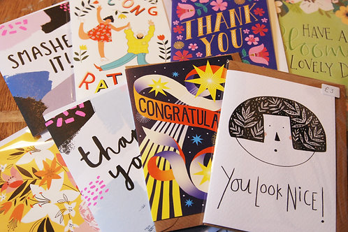 Thank You and Congratulations Cards Surprise Bundle X 5 Cards