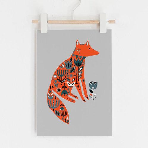 Fox Garden Limited Edition Print by Jenni Douglas