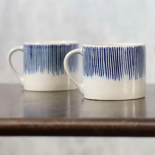Karuma Ceramic Small Mug in Blue and White