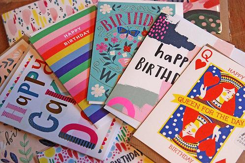 Birthday Card Surprise Bundle X 5 Cards