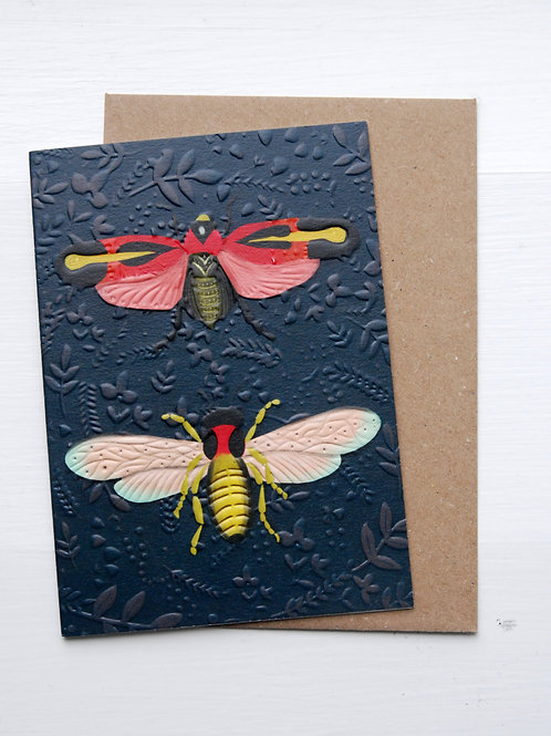 Moth Card by The Little Posy Print Co