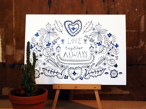Love Together Always Art Print
