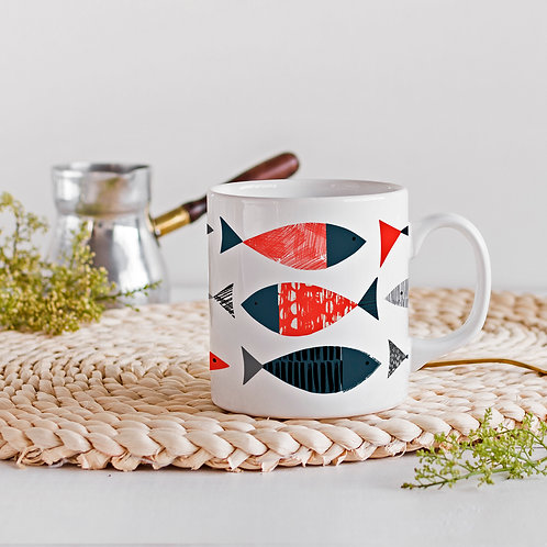 Bone China Mug with 'Tide' Design