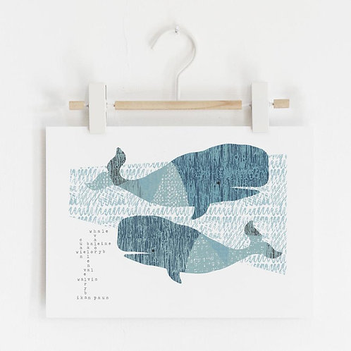 Whale Song Language Print by Jenni Douglas
