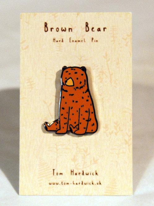 Brown Bear Enamel Pin