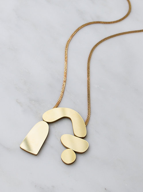 Cassia Necklace- Brass by Wolf and Moon