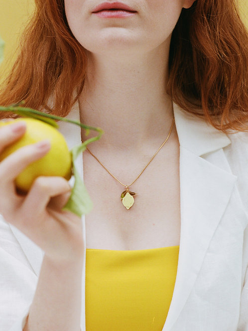 Mini Lemon Necklace by Wolf and Moon