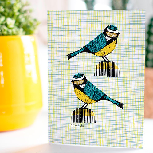 Bluetits Card by Jenni Douglas