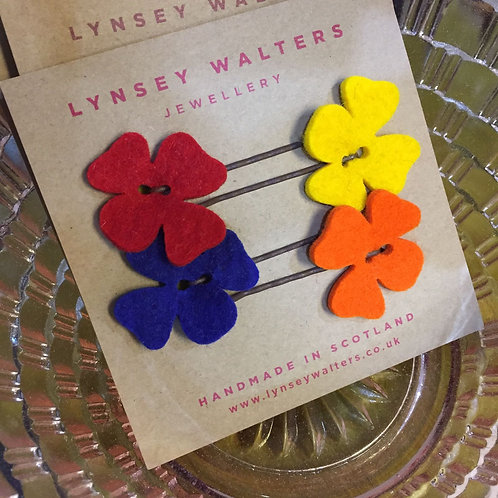 Hairslides by L. Walters