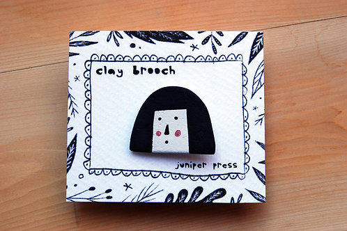 Jean - Face Brooch by Juniper Press
