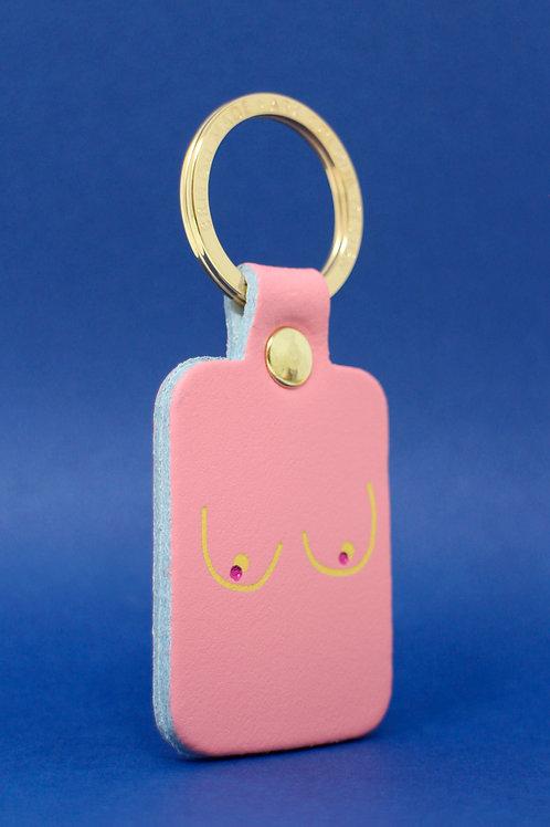 Boobs Key Fob - Baby Pink