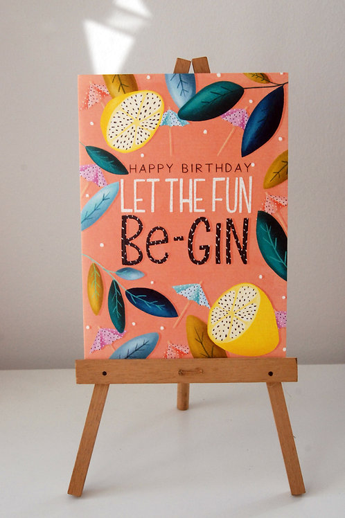 Let the Fun Be-Gin by The Little Posy Print Co