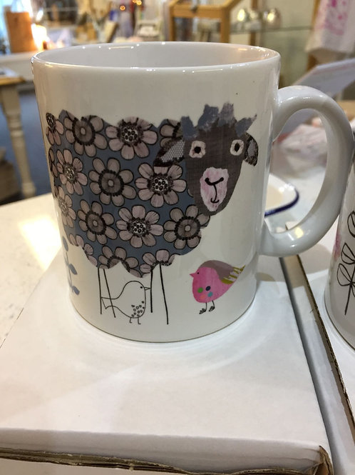 Sheep Mugs by Grace Rigby Textiles