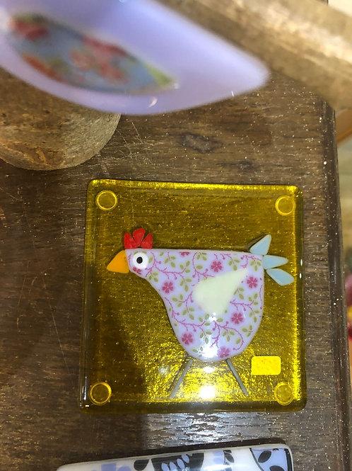 Chicken coasters by S. Bibet