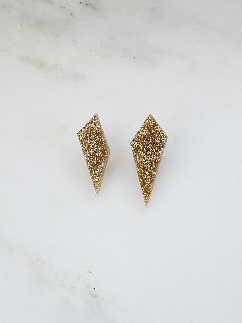 Shard Gold in Black Glitter