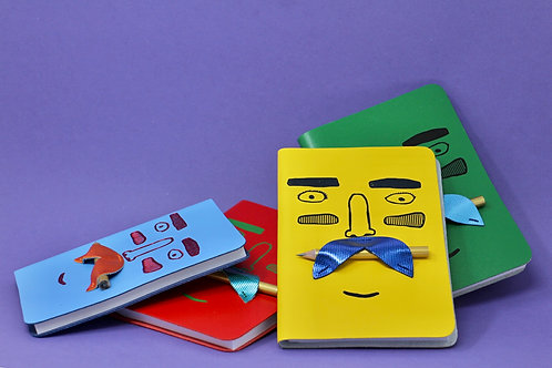 Mr Moustachio Journal by Ark Colour Design