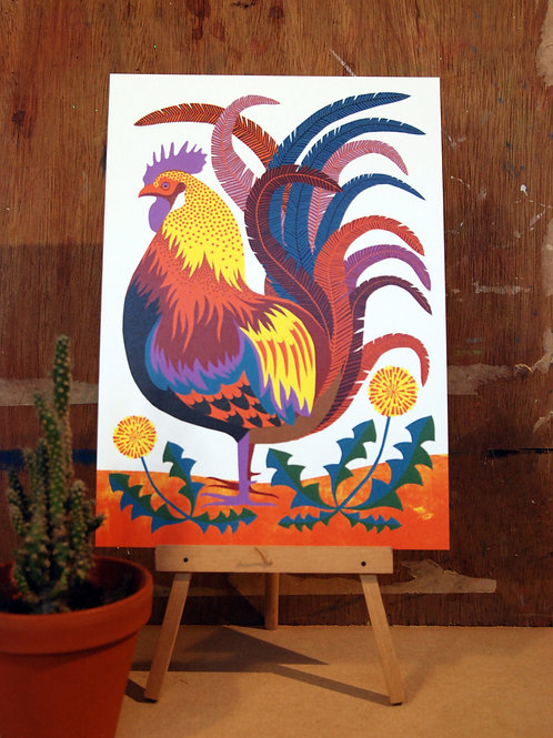 Rooster A4 Art Print