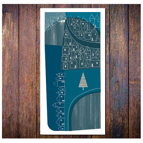 Winter Village Card