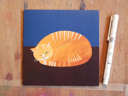 Ginger Moggy Card by Ellie Good Illustration