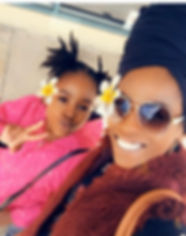Black mother and daughter