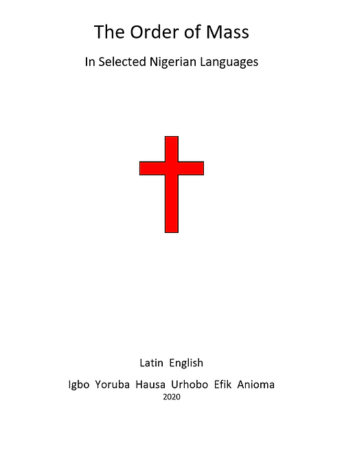The Order Mass in Nigerian Languages (Hardback)