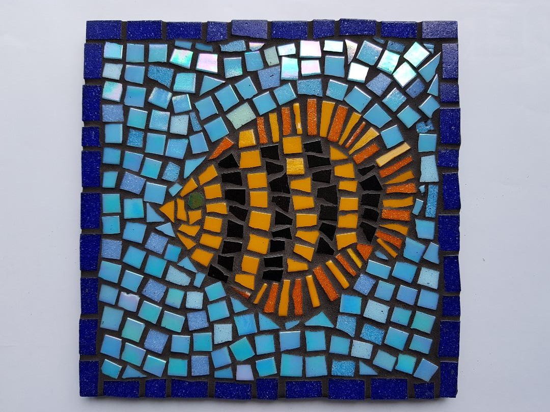 Striking fish mosaic