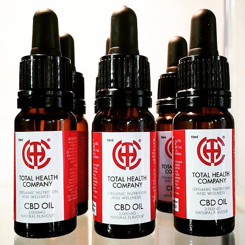 Sublingual 2000mg C.B.D drops in 10ml bottle