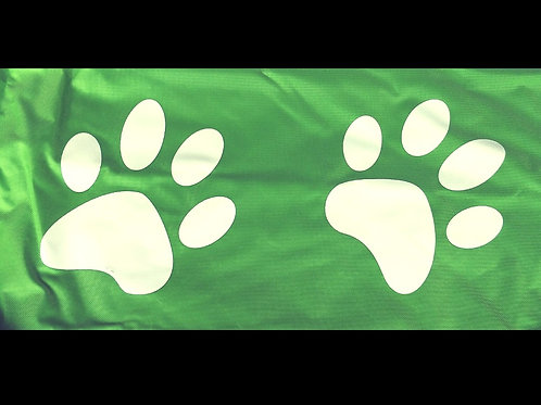 Paw Print Dog's Bean Bag Cover - Large (Lime Green or Orange )