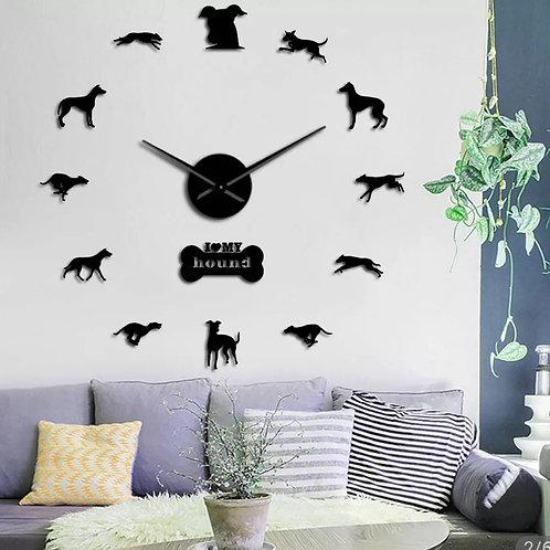 """Wall Clock Kits  """"I ❤ my Hound"""""""