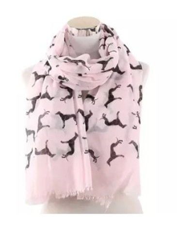 Greyhound Pattern Scarf (Click for Colour Range)