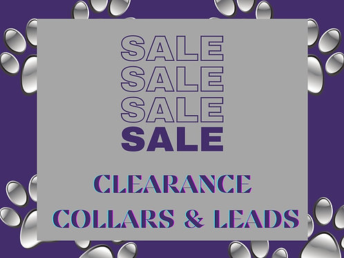 Clearance Collars and Leads (Click for Colour Range)