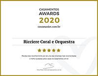 PREMIO CASAMENTOS AWARDS 2020 - RICCIERE