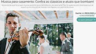 Site de Casamentos Zankyou - Ricciere - Músicas para Casamento
